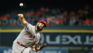 Matt Shoemaker delivers a pitch during the first inning of a game against the Houston Astros at Minute Maid Park on July 30, 2015 (Scott Halleran/Getty Images)