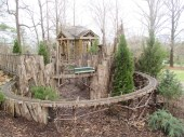 treehouse & toy train