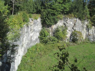 above the marble quarry