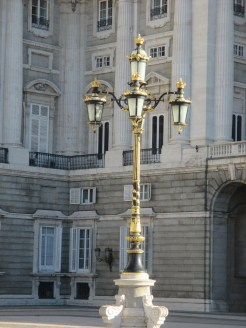 lamp posts in courtyard
