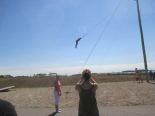 Casey flying