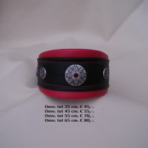 elementen, halsband, roze zwart, stoer, whippet, barsoi