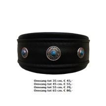 halsband, chique, blauw, zwart