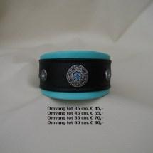 blauwe halsband, zwart, ornamenten, steentjes