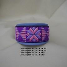 bestelkleuren, roze lila, halsband, kleurrige halsband