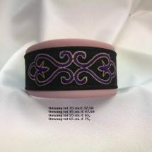 chique halsband, roze, paars, zwart, honden, opdruk