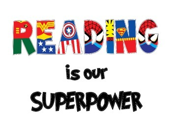 """Picture Text: """"Reading is our superpower"""""""