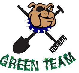 Green Team Bull Dog Logo
