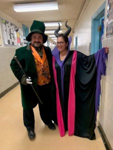 Halloween Mr. Suraci and Mrs. Quintero