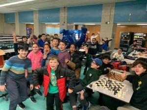 Chess Club and Barkley the Mascot