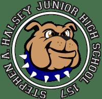 Stephen A. Halsey JHS Bulldog Logo