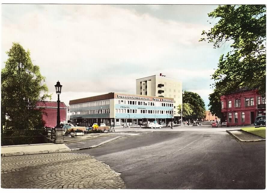 En stadsvy från Hudiksvall.