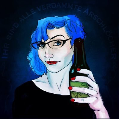 Illustration of Hal holding a bottle of beer