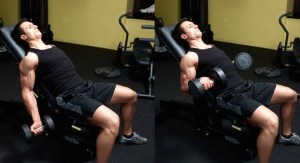 Un curl incliné pour cibler la portion longue du biceps, attention aux biceps courts