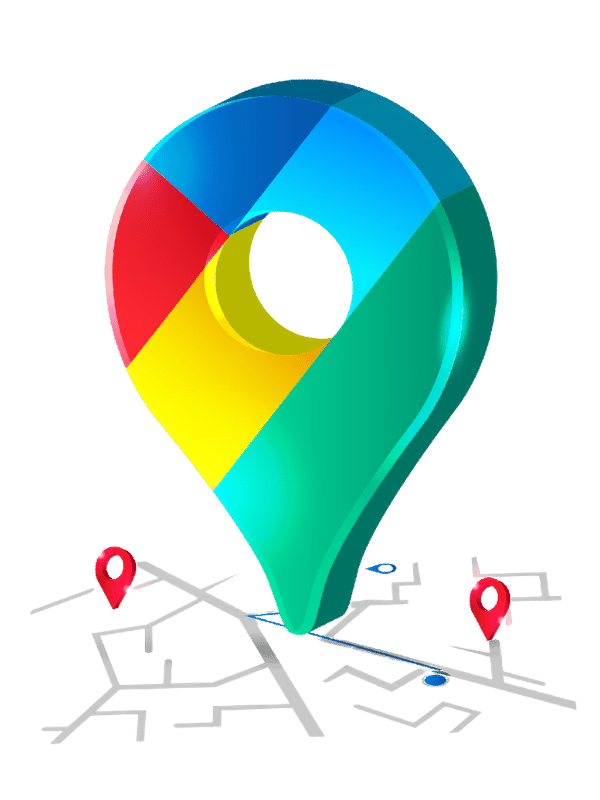 Coloured Map Pin - Google My Business