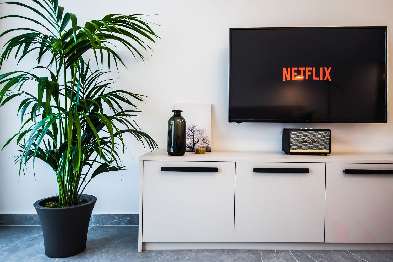 Clio Living room with Netflix TV