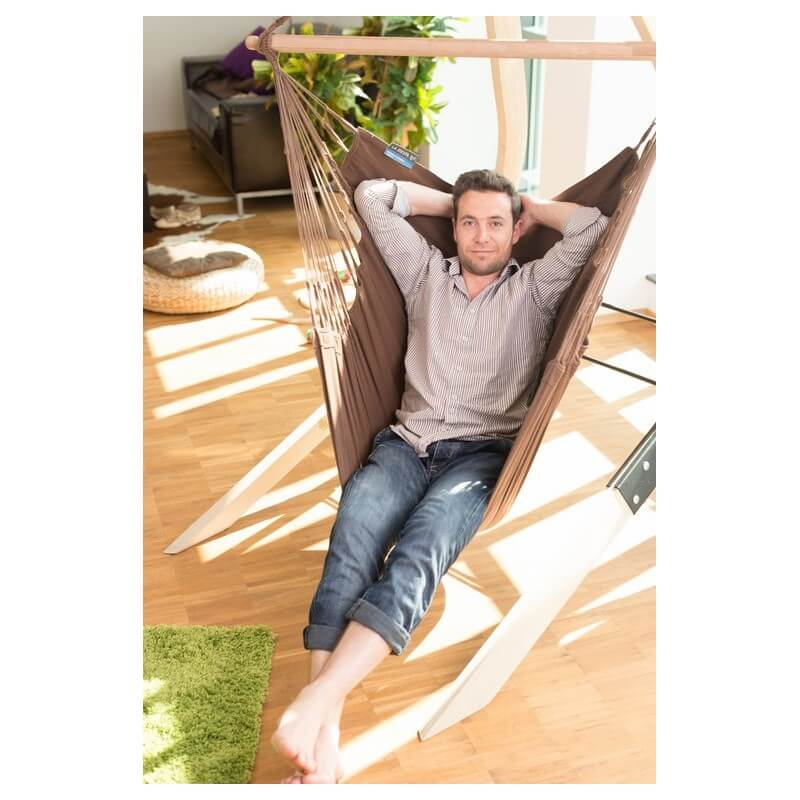 support en bois pour chaise hamacs vela