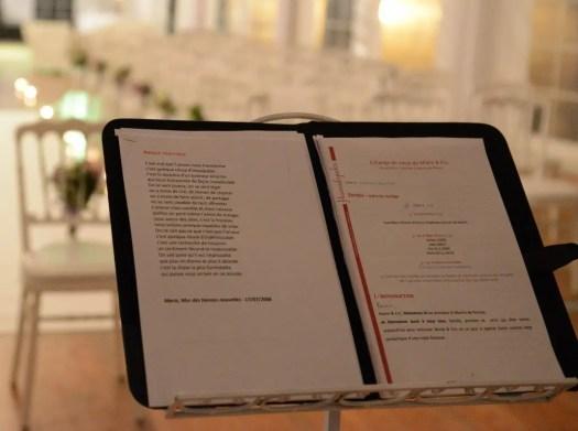 Livret officiante Elisabeth cérémonie laïque
