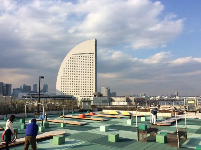 横浜ワールドポーターズの屋上