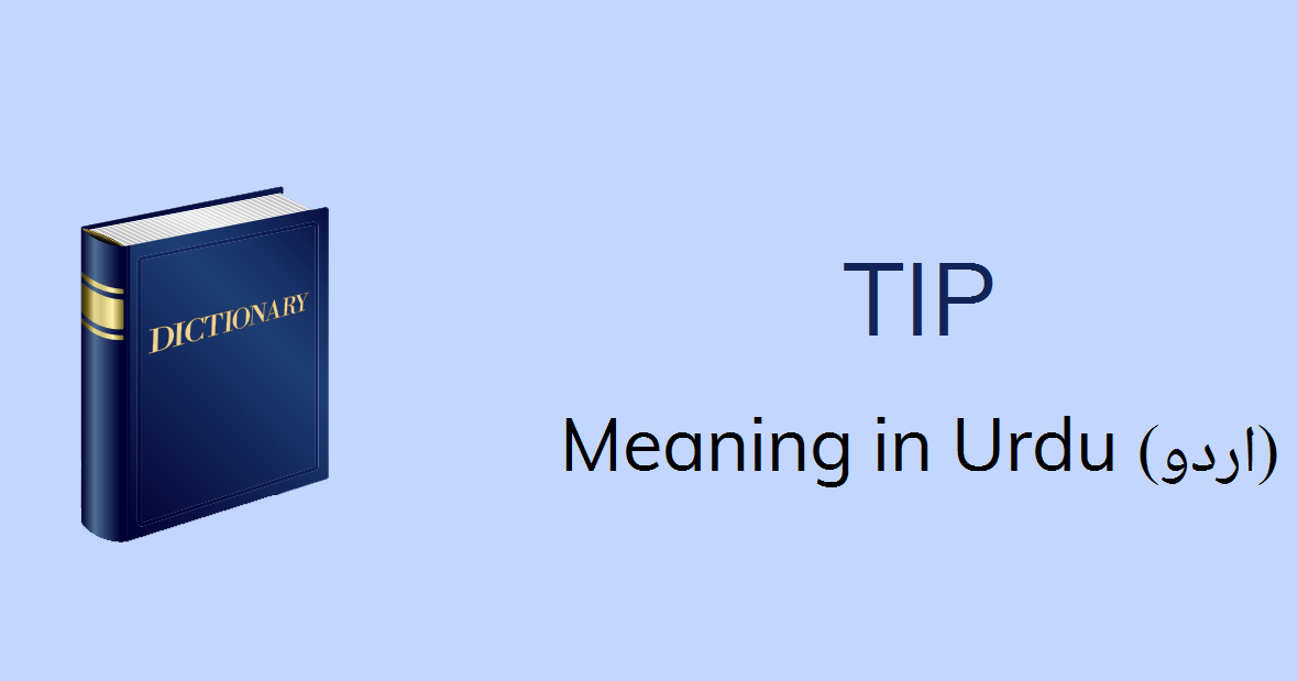 Tip Meaning In Urdu With 3 Definitions And Sentences