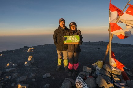 Happy to conquer Mahameru's summit in time for sunrise