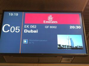 EK 062 nach Dubai