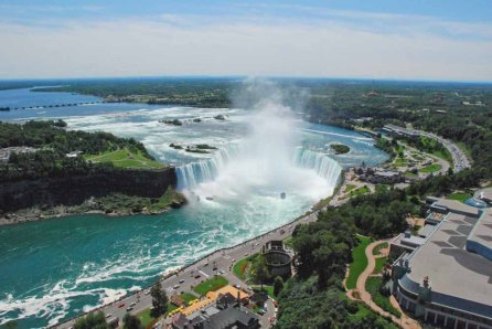 View from Skylon Tower Niagara Falls 2009