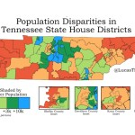 Population Disparities in TN State House Districts map
