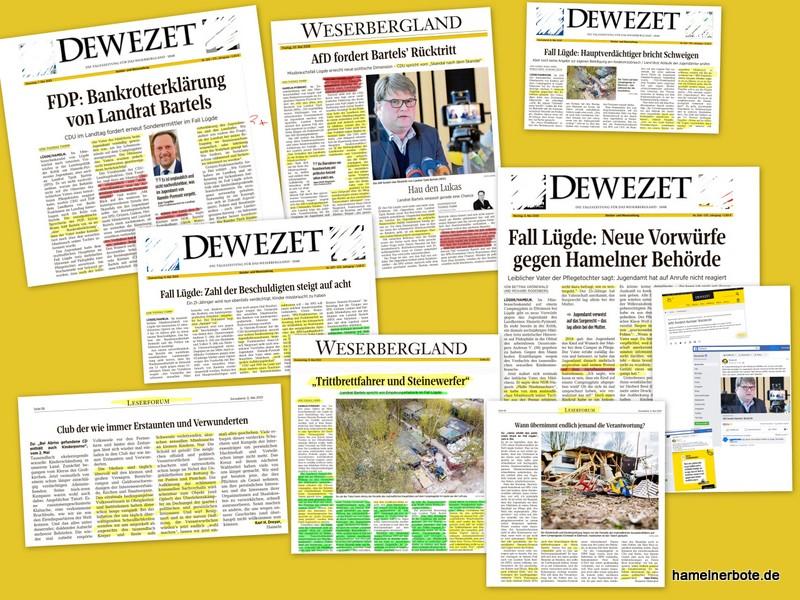 Bankrotterklärung (2) der DEWEZET an den Qualitätsjournalismus. Eine persönliche Bewertung.