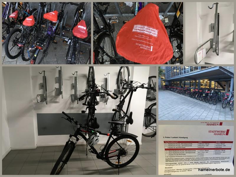 Freie Plätze und Vertragsänderungen für die Fahrradstation am Bahnhof Hameln