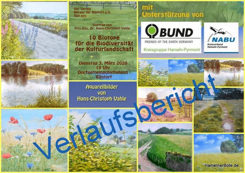 """Verlaufsbericht: """"10 Kulturbiotope für die Biodiversität der Landschaft"""" mit Dr. Hans-Christoph Vahle"""