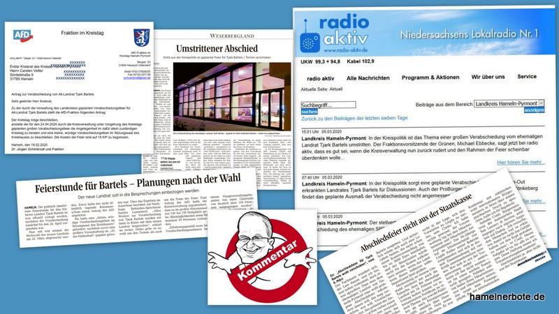 Der Streit um des Landrats Abschiedsfeier:   Grundinformationen + Kommentar (#LRabschiedHM)