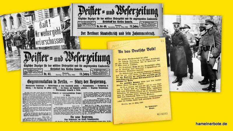 Der Kapp-Putsch 1920. Berichterstattung der historischen DEWEZET vor 100 Jahren. (#hmjournalismusweimar, #kappputsch)