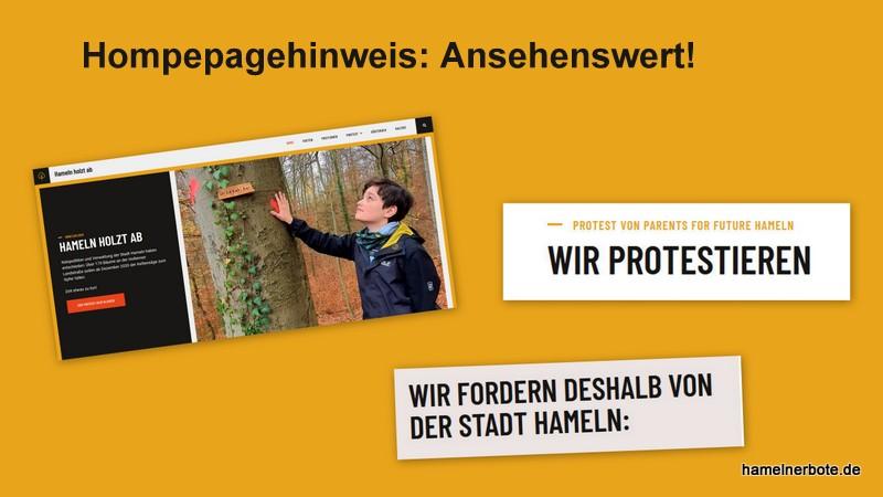 """Homepagehinweis: Ansehenswert – """"hameln-holzt-ab.de"""""""