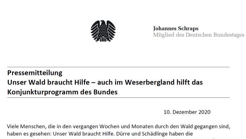 Unser Wald braucht Hilfe – auch im Weserbergland…