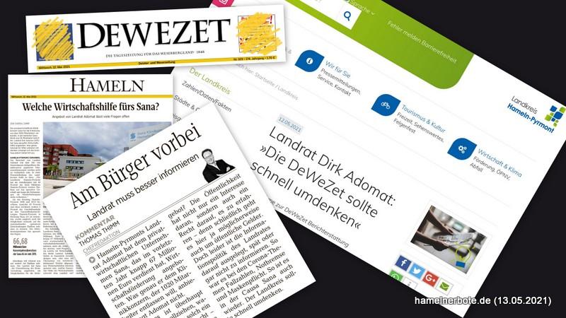 Konfliktjournalismus: DEWEZET/Thimm gegen Adomat vom 12.05.2021