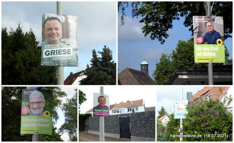 Wahlplakate Hameln: Kommunalwahl / OB-Wahl 2021