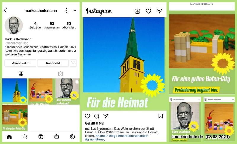 Kreativer lokaler Bilder-Wahlkampf auf Instagram