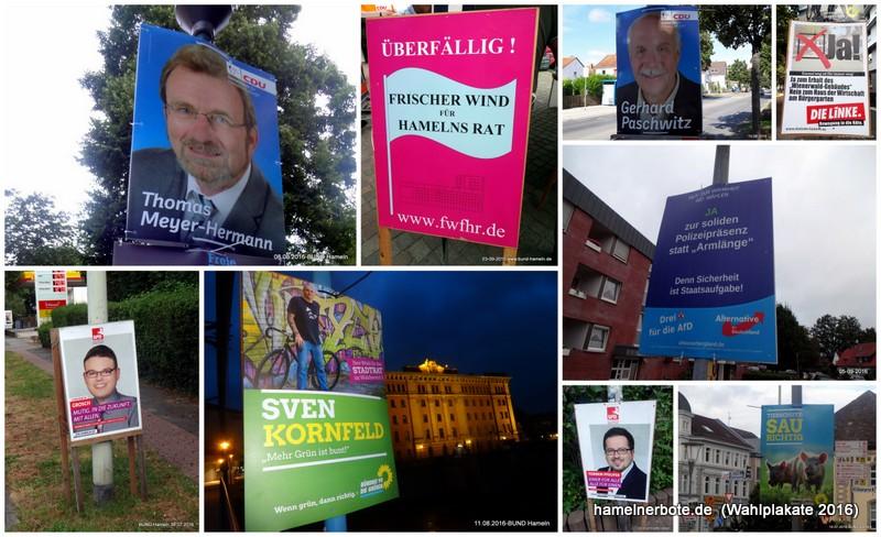 Wahlplakate 2011 und 2016 – Ein Rückblick:
