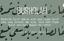 Busholah Huruf Dalam Belajar Kaligrafi