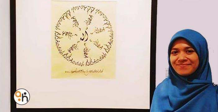 Kaligrafer Pameran Sharjah 2016 (6) Nur Hamidiyah; Inspirasi Dalam Berprestasi