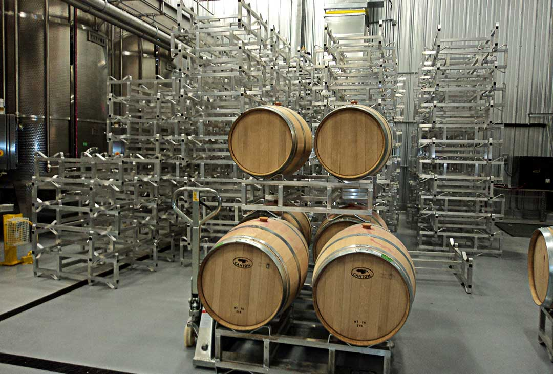 aluminum std wine barrel racks
