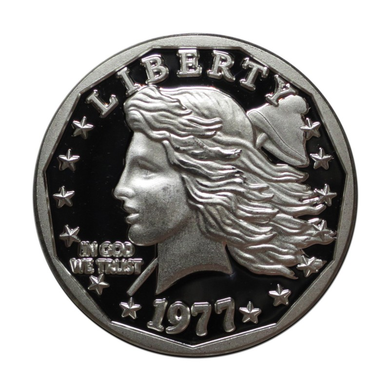 Grove Minting Silver Commemorative Proof of the 1977 Liberty Dollar