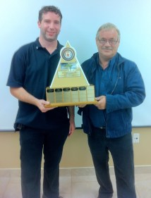 Rick Brown with his Driver of the Year Herbert Peters