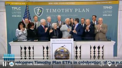 NYSE Tweet: Timothy Plan Founder Art Ally Rings Opening Bell!