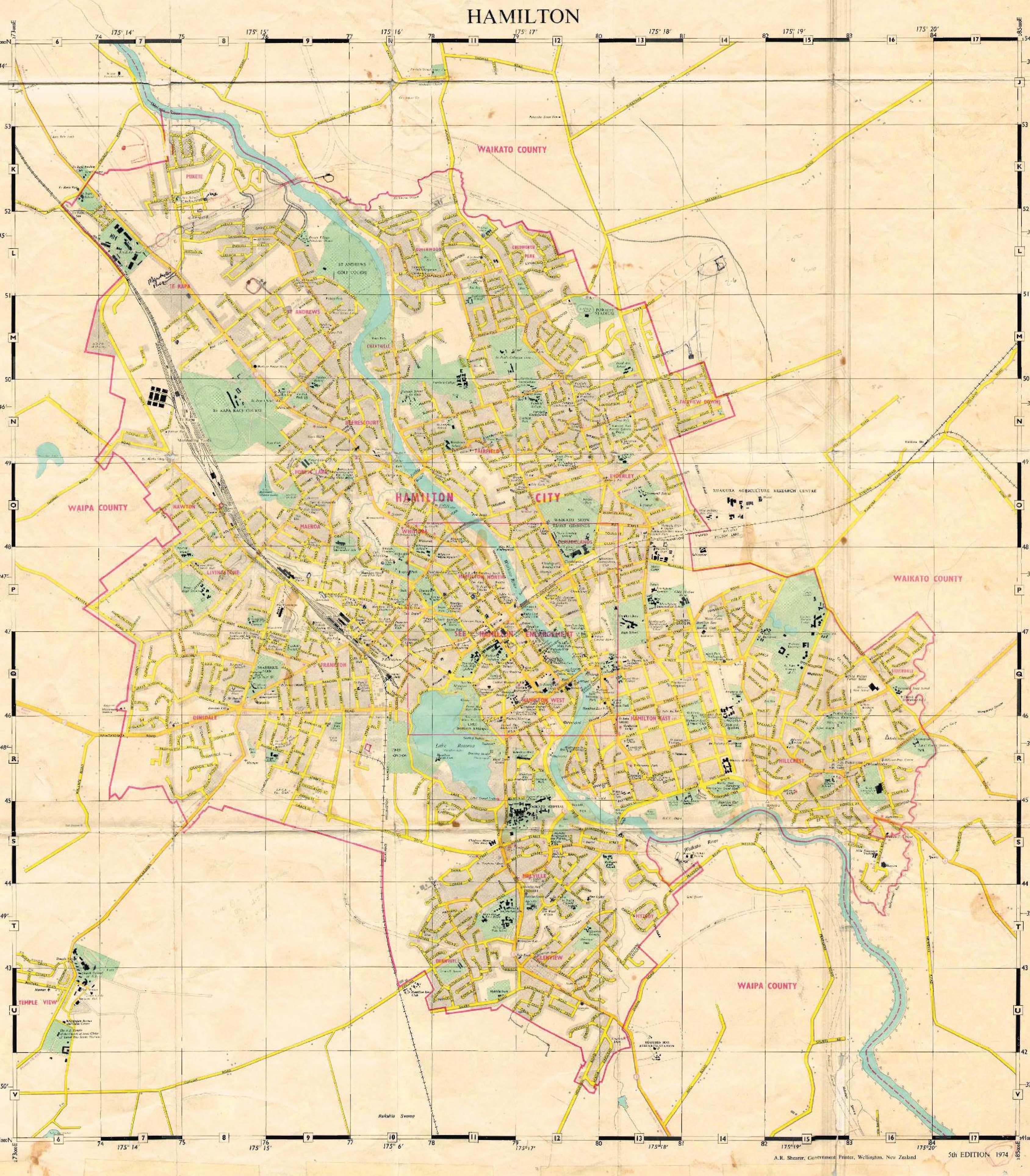 Hamilton map 1974