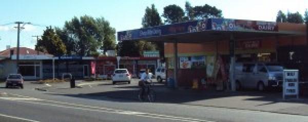 Maeroa Shops roundabout