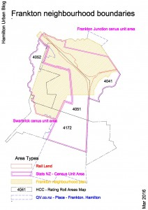 Frankton neighbourhood Boundary areas