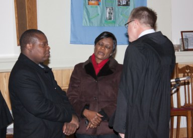 Zambian guests with Lawrence Moore