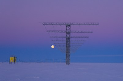SuperDARN and moon